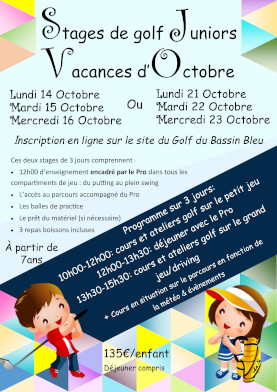 Stage de Golf Junior en Octobre